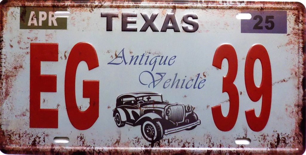 plaque métal vintage TEXAS - TOFMOBILE