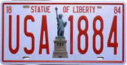 plaque métal vintage NEW YORK STATUE OF LIBERTY - 30 x 15 cm - TOFMOBILE