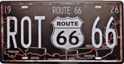 plaque métal vintage ROUTE 66 US - TOFMOBILE