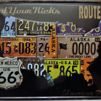 plaque métal vintage ROUTE 66 get yours kicks - TOFMOBILE