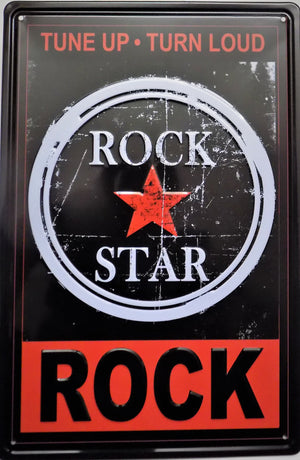 plaque métal vintage ROCK STAR - TOFMOBILE