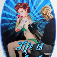 plaque métal vintage STAY INKED pin up - TOFMOBILE