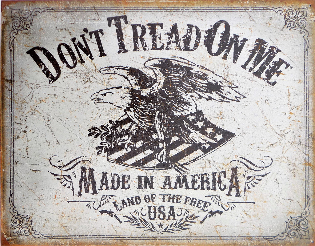 plaque métal vintage DON'T TREAD ON ME made in américa - TOFMOBILE