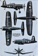 plaque métal vintage AVION F4U-ID CORSAIR - TOFMOBILE