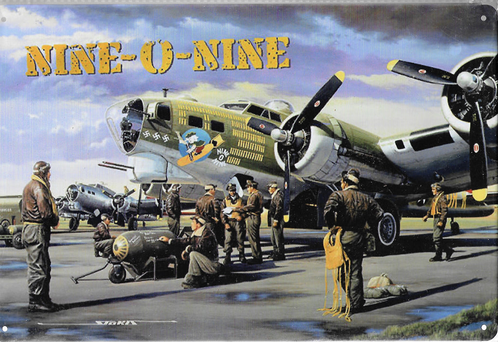 plaque métal vintage AVION NINE-O-NINE - TOFMOBILE