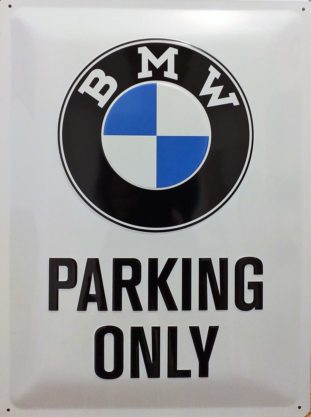 plaque métal vintage BMW PARKING ONLY