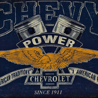 plaque métal vintage CHEVROLET CHEVY POWER