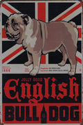 plaque métal vintage ENGLISH BULLDOG