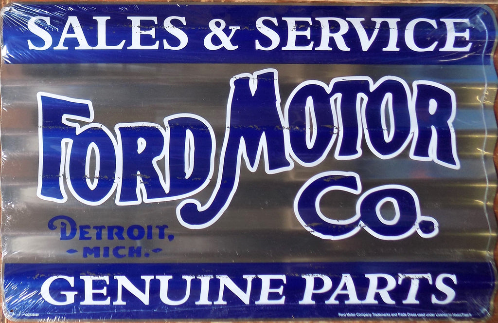 plaque métal vintage FORD MOTOR CO SERVICE - TOFMOBILE