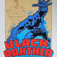 PLAQUE METAL vintage MARVEL BLACK PANTHER