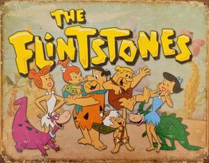 PLAQUE METAL vintage THE FLINTSTONES - TOFMOBILE
