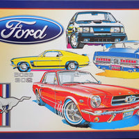plaque métal vintage FORD MUSTANG BOSS 302 - TOFMOBILE