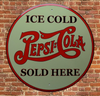 plaque métal vintage PEPSI COLA ice cold