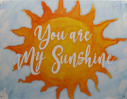 plaque métal vintage YOU ARE MY SUNSHINE