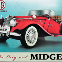 plaque métal  vintage MG MIDGET TF SERIES