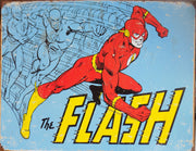 PLAQUE METAL vintage DC THE FLASH rétro