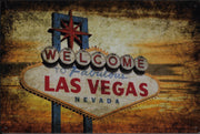 plaque métal vintage WELCOME LAS VEGAS