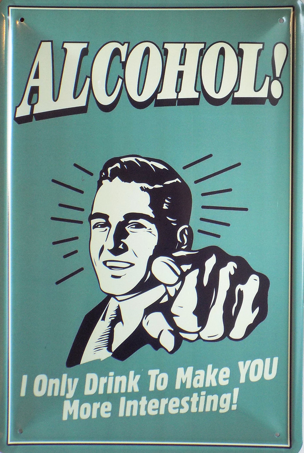 plaque métal vintage ALCOHOL - TOFMOBILE