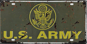 plaque métal vintage US ARMY - 30 x 15 cm - TOFMOBILE
