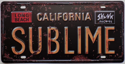 plaque métal vintage CALIFORNIA SUBLIME - TOFMOBILE