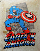 PLAQUE METAL vintage CAPTAIN AMERICA - TOFMOBILE