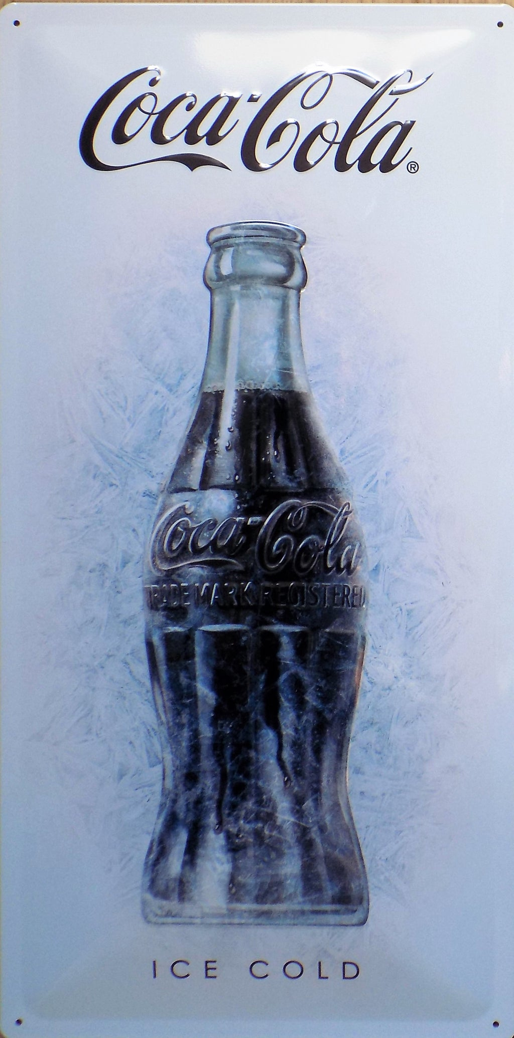 plaque métal vintage COCA COLA ICE COLD - TOFMOBILE