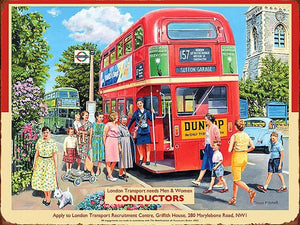 PLAQUE METAL vintage CONDUCTORS LONDON BUS - TOFMOBILE