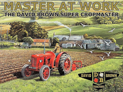 plaque métal vintage TRACTEUR DAVID BROWN master at work - TOFMOBILE