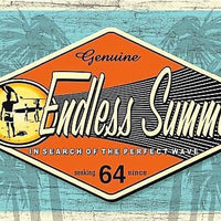 plaque métal vintage SURF ENDLESS SUMMER - TOFMOBILE
