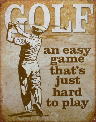 PLAQUE METAL vintage GOLF EASY GAME - TOFMOBILE