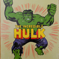 PLAQUE METAL vintage THE INCREDIBLE HULK - TOFMOBILE