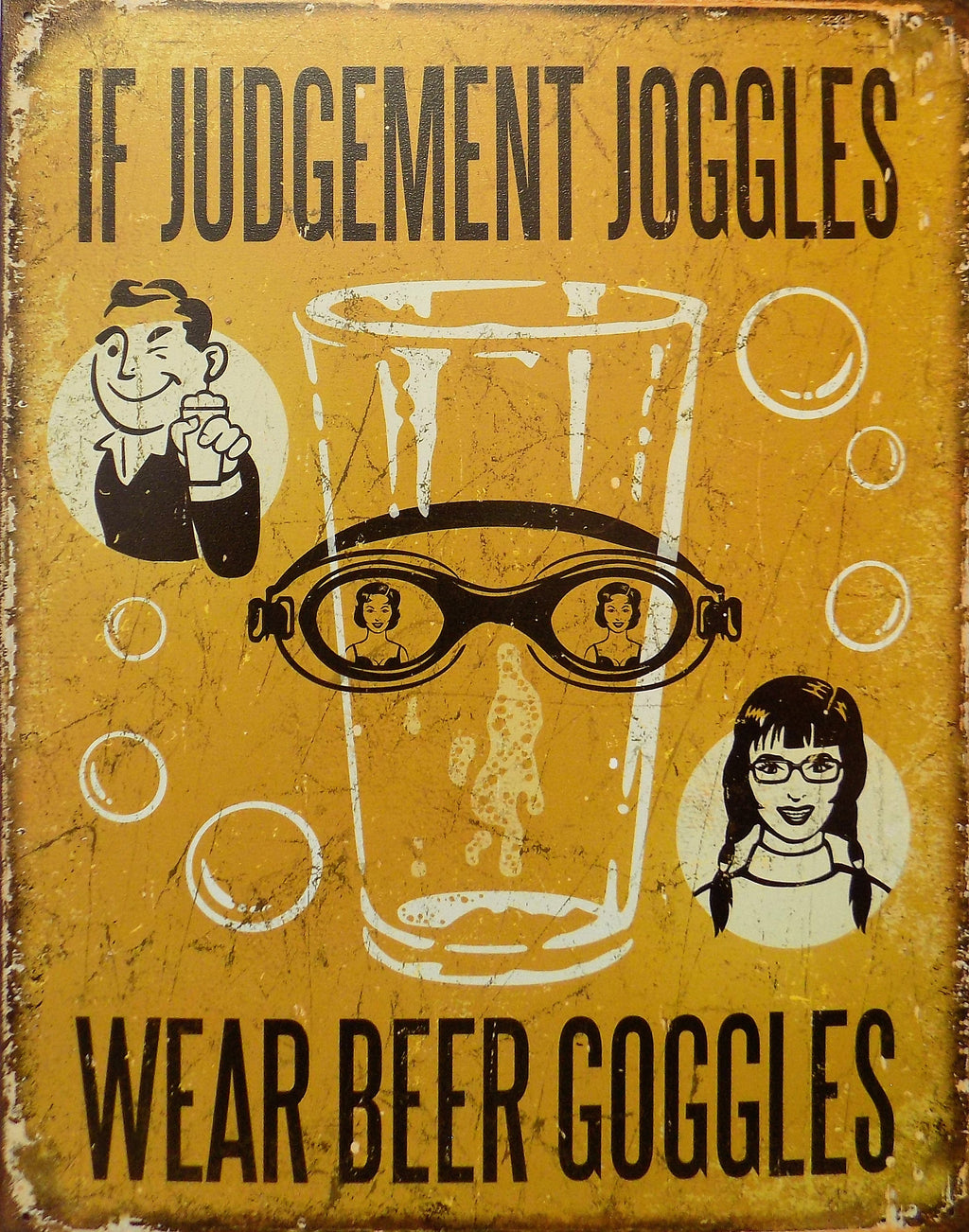 plaque métal vintage IF JUDGEMENT JOGGLES - TOFMOBILE