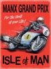 plaque métal vintage MANX GRAND PRIX ISLE OF MAN - TOFMOBILE
