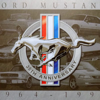 plaque métal vintage FORD MUSTANG 35th anniversary - TOFMOBILE