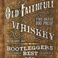 plaque métal vintage OLD FAITHFULL WHISKEY - TOFMOBILE