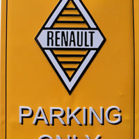 plaque métal vintage RENAULT PARKING ONLY - TOFMOBILE