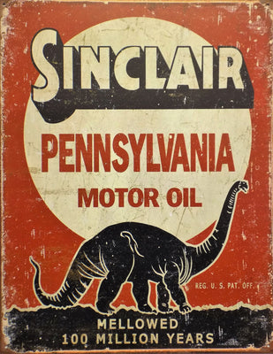 plaque métal vintage SINCLAIR MOTOR OIL - TOFMOBILE