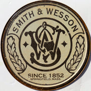 plaque métal vintage SMITH & WESSON - TOFMOBILE