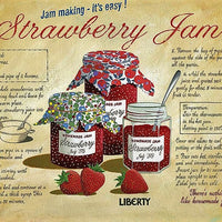 plaque métal vintage STRAWBERRY JAM - TOFMOBILE
