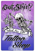 plaque métal vintage GOT SKIN TATTOO SHOP - TOFMOBILE