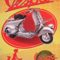 plaque métal vintage VESPA SCOOTER - TOFMOBILE