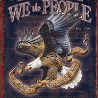 plaque métal vintage USA WE THE PEOPLE - TOFMOBILE