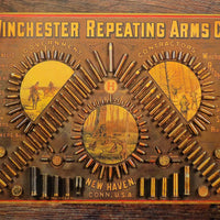 plaque métal vintage WINCHESTER REPEATING ARMS - TOFMOBILE