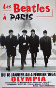 POSTER vintage LES BEATLES à PARIS 1964 - TOFMOBILE