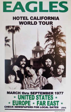 POSTER vintage EAGLES hotel california world tour - TOFMOBILE