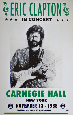 POSTER vintage ERIC CLAPTON in concert 1988 - TOFMOBILE