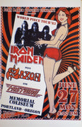 POSTER vintage IRON MAIDEN TOUR 1983 - TOFMOBILE