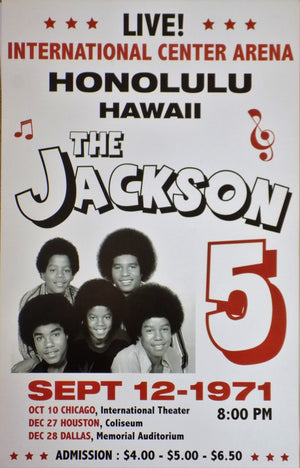 POSTER vintage THE JACKSON 5 HAWAII 1971 - TOFMOBILE
