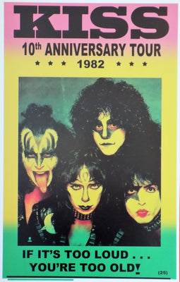 POSTER vintage KISS 10th anniversary tour 1982 - TOFMOBILE
