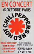 POSTER vintage RED HOT CHILI PEPPERS PARIS - TOFMOBILE